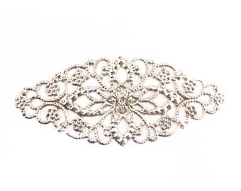 8pc large platinum look filigree fancy wraps-9431