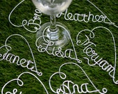 Personalized Wine Charm, Custom Wine Glass Charm, Bride Name Personalized Custom wire Wine Charm, Bridal Gift
