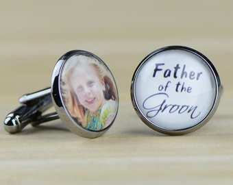 Custom Cuff Links, Personalized father of the bride wedding date cufflinks, Wedding cuff links, Groom cuff links, bestman cuff links-057