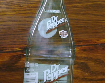 Slumped Dr. Pepper Bottle, Spoon Rest, Imperial Sugar Dr. Pepper, Paperweight