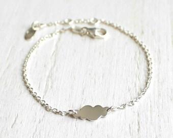 Little cloud sterling silver bracelet