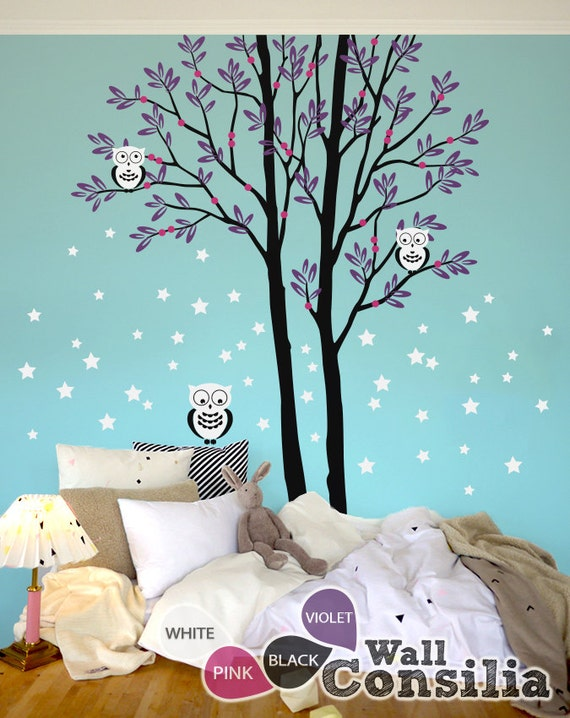 baby nursery tree wall decal wall sticker owl tree wall decal owls