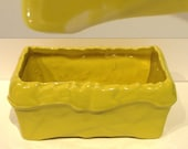Vintage Yellow McCOY Ceramic Planter / Rustic Summer Decor / Window Accessory / Succulent Home