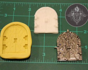 Castle or Fairy Door Silicone Mold - 2 inches by 1.5 inches