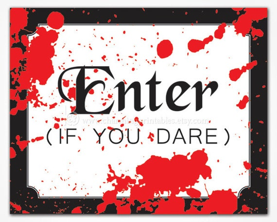 Items Similar To Adult Halloween Party Sign Printable