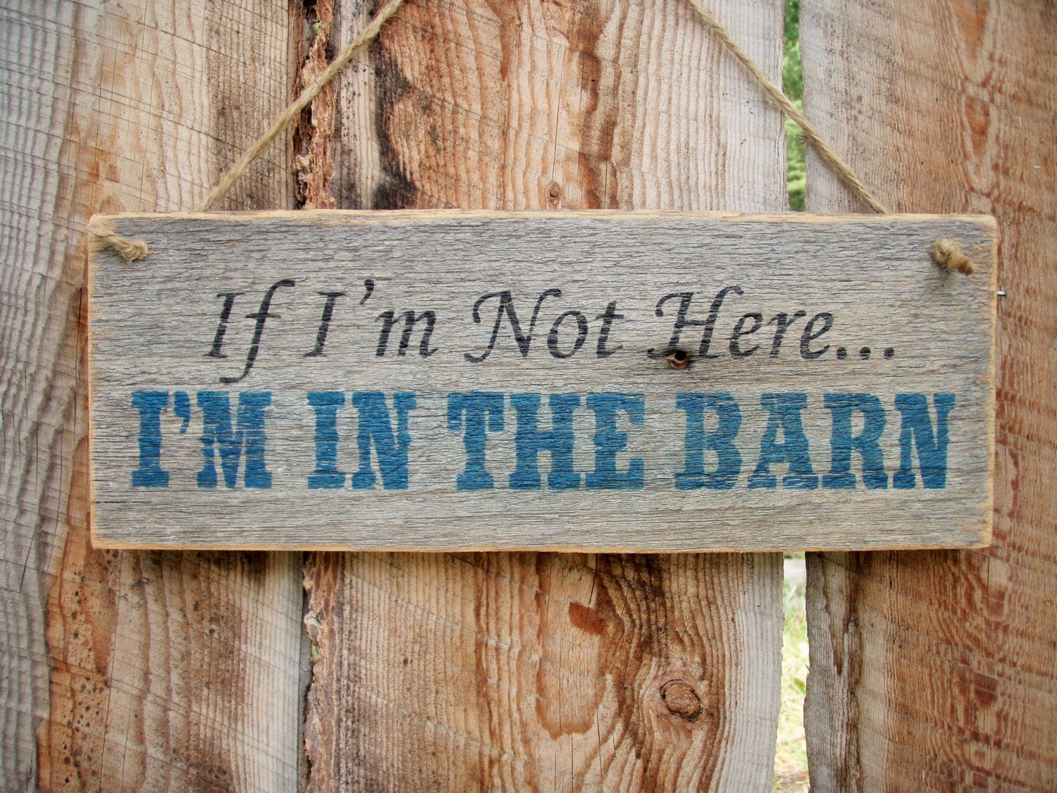 I M In The Barn Sign Rustic Barn Sign Front Door Sign