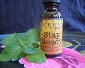 Stay Ready! nourishing elixir for thoughtful clarity, memory tonic w Milky Oat tops, Tulsi/Holy Basil, Lemon Balm, Gotu Kola, Sage, Rosemary