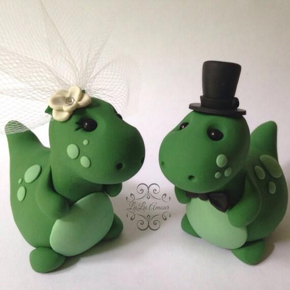 Dinosaur Wedding Cake Topper Handmade
