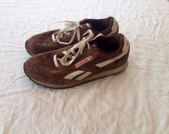 Retro brown suede Reebok sneakers