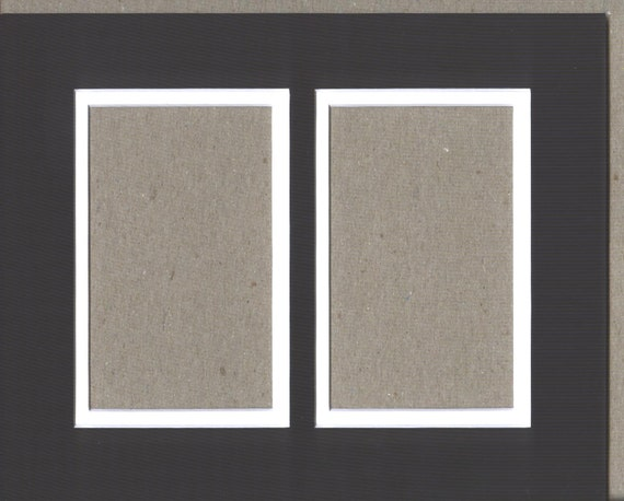 Package Of 5 11x14 Black Amp White Double Picture Mats With