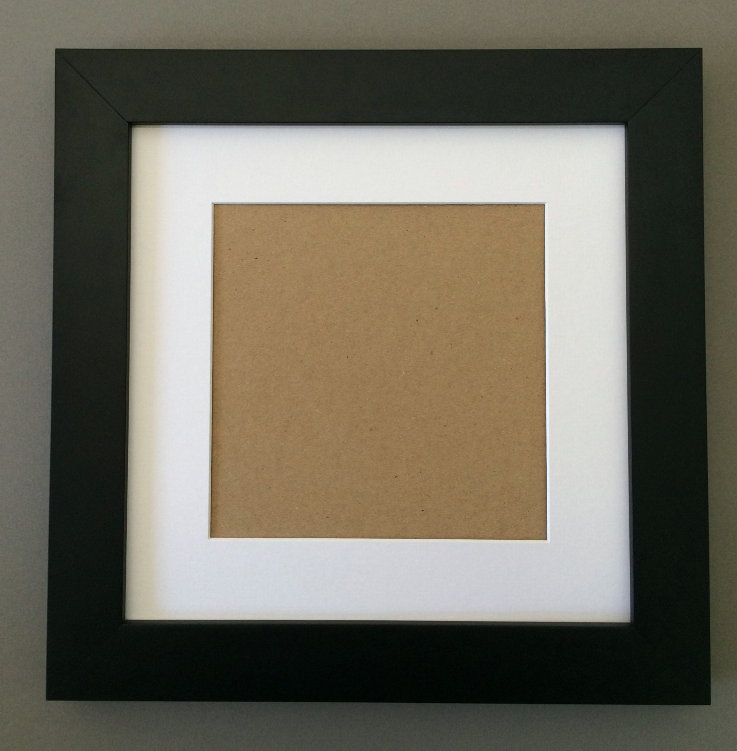 10x10 Square Black Picture Frame With White Mat For 6x6
