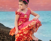 CORAL COVE MERMAID Costume-Dress Up, Portraits, Birthday, Pageant, Halloween-Little Girls (sizes 2-8)
