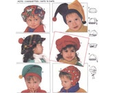 Children's Fleece Hat Pattern Burda 4219, Jester Hat, Beret, Ear Flap Cap, Boys & Girls Novelty Winter Hats Sewing Pattern Uncut Sealed