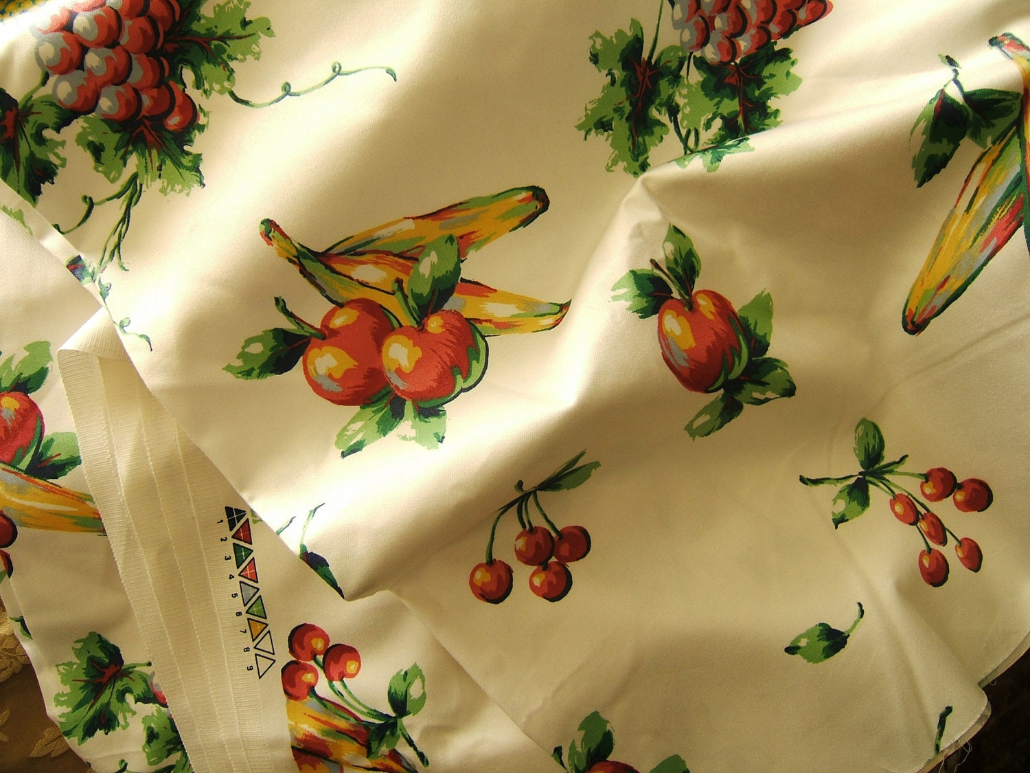 Fabric With Multi Fruit Kitchen Curtains Placemats Etc