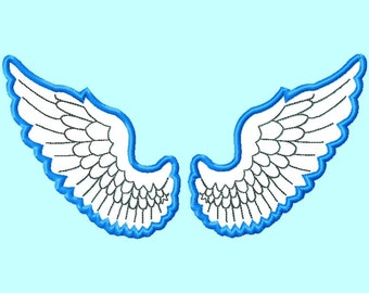 Wings APPLIQUE Embroidery Design 4 sizes  INSTANT DOWNLOAD