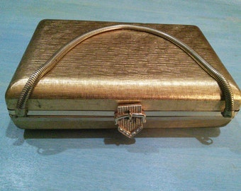 Volupte Gold Tone Hard Case Evening Purse,  gorgeous