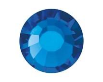 227 pieces Swarovski Capri Blue flat back ss16 Hot Fix Crystal 2028 4mm Rhinestones Beads Iron On