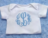 Monogram Boy or Girl Bodysuit