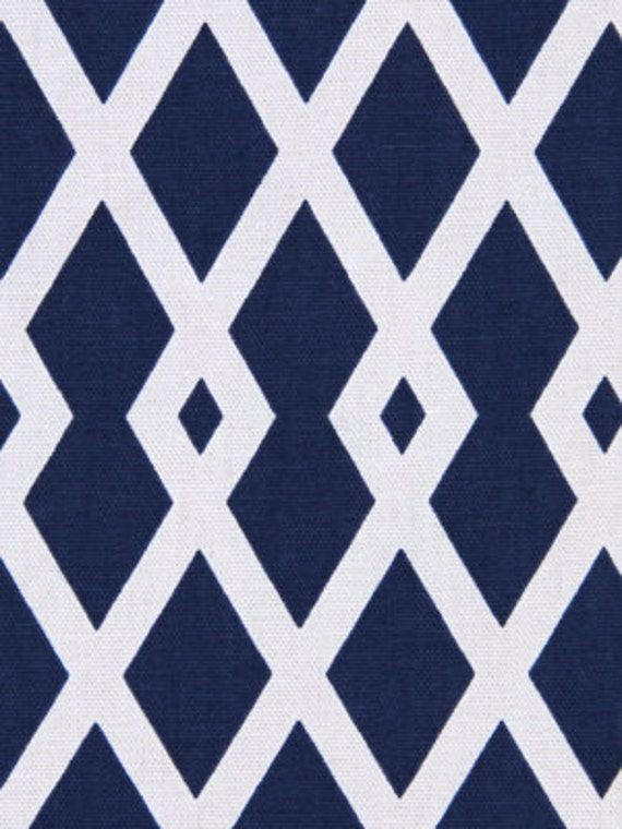 geometric upholstery fabric navy blue trellis by popdecorfabrics. Black Bedroom Furniture Sets. Home Design Ideas