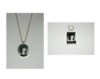 Joan Jett Glass Pendant Necklace and/ or Keychain