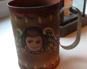 Painted angel decorative cup