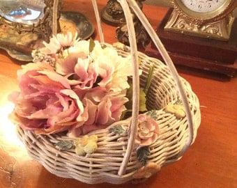 Barbola wicker flower basket
