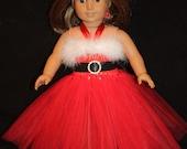 SALE 50% OFF******SANTA Inspired 18in Doll Tutu Dress