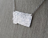 Hammered Sterling Silver or Nickel Silver Montana State Necklace