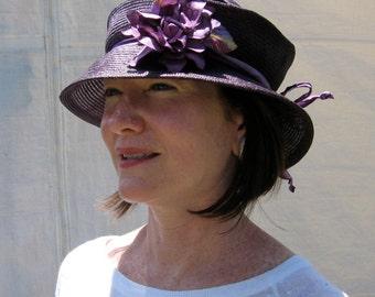 "Gorgeous Travel Hat ""Dena"" Folds Flat Packable Parasisal"