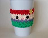 Gehäkelte kleine Meerjungfrau Ariel Tasse Kaffee gemütlich