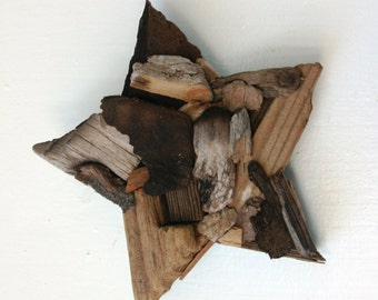 Star Driftwood Wall Decor: Coastal Chic Home Decor, Rustic Home Decor