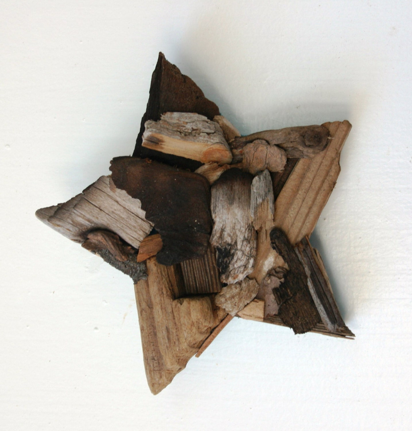 Blue Star Wall Decor : Star driftwood wall decor coastal chic home rustic