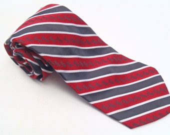Vintage 1970s Navy Striped Wide Tie by Yves Saint Laurent