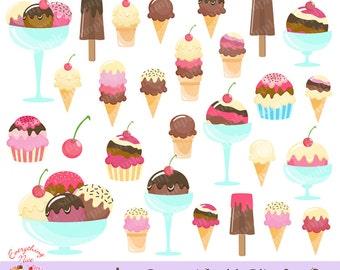 Ice Cream World Clipart Set