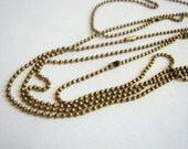 Brass  Ball Chain 24''