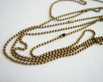 Brass  Ball Chain 24''