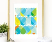 Owl abstract color pattern Spring Collection Poster Geometric inspired in owls color pattern colors Poster pop of color colorful Owl Poster