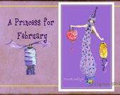 "Princess Amethyst fashion illustration-Greeting Card (5.5""x8"")"