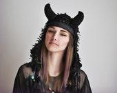 UTHA SHAMAN - Obsidian - headdress - festival headdress - fesstival hat - festival headpiece - Bohemian Hippie Head accessories - burningman