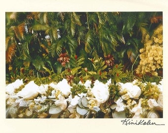 Photo Note Card of White Flower Lei