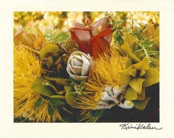 Photo Note Card Lei Lehua Mamo