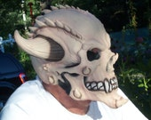 Demon Monster Skull ,Rubber Mask,Halloween Horror Scary Mask