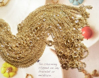 "6 Vintage Goldplated 16"" Chains"