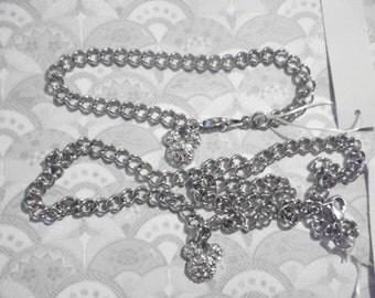 1 Signed Disney Mickey Necklace and Bracelet Set