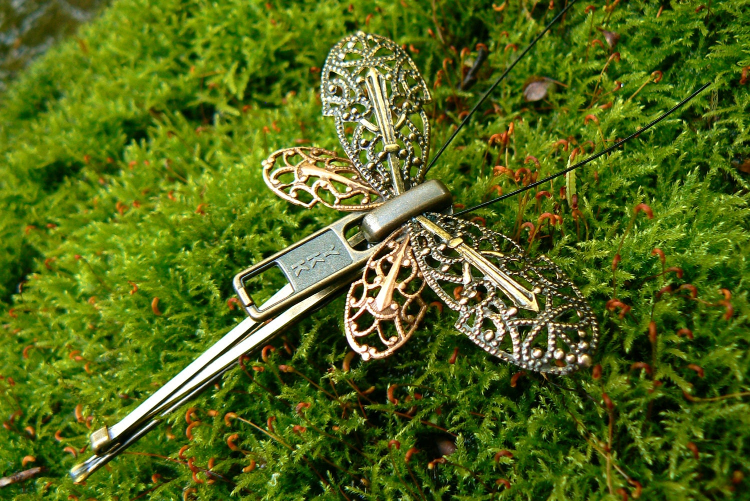 Steampunk Butterfly Zipper Hair Clip Wedding Hair Pin