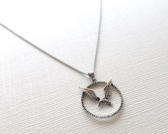 Soaring Seagull Necklace in Sterling Silver