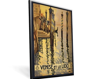 Vintage Travel Poster Venice on 11x17 PopMount Ready to Hang FREE SHIPPING