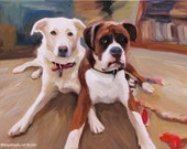 Custom Pet Portrait - Personalized Dog Portrait Painting on Canvas Ultimate Gift Idea