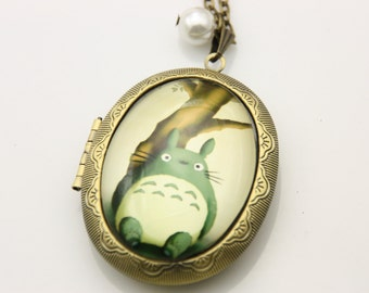 Necklace  locket totoro 3040M