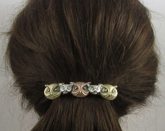 Owls French Barrette 80MM- Hair Accessories- Hair Clips- Owls
